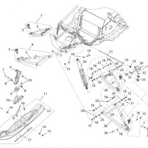 Подвеска передняя и лыжа для S10300100