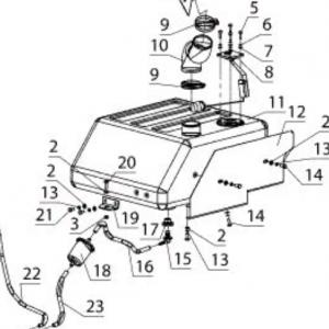 Система очистки воздуха и топливная система (квадроцикл РМ 500)