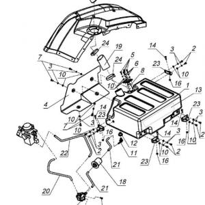 Система очистки воздуха и топливная система (квадроцикл РМ 650-2)
