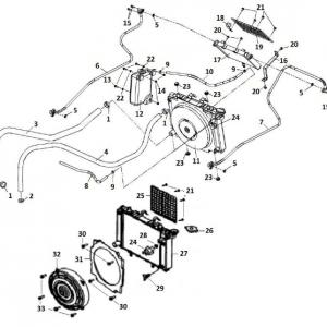 Система охлаждения (квадроцикл РМ 500)