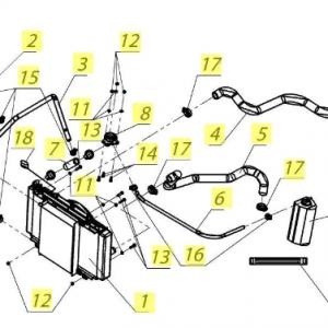 Система охлаждения, насос водяной, насос масляный с фильтром (квадр. РМ 650-2)