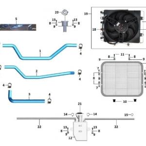 Система охлаждения, система смазки двигателя (квадроцикл РМ 800)
