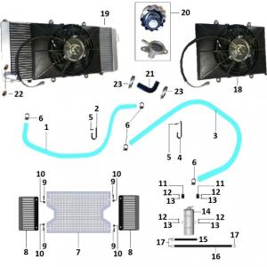 Система охлаждения, система смазки двигателя (квадроцикл РМ 800 UTV Багги)