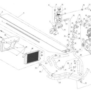 Система охлаждения,система смазки двигателя (Patrul 800 SWT)