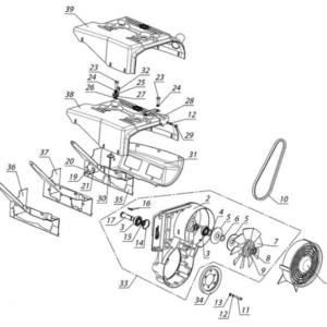 Система охлаждения РМЗ-500,550,551,система смазки двигателя РМЗ-551