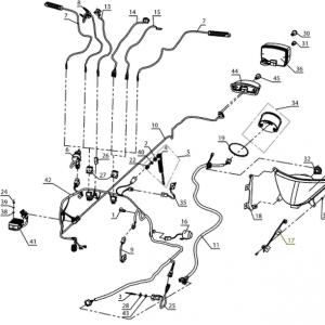 Электрооборудование, осветительные и сигнальные приборы, система зажигания (блок двигателя РМЗ-500,550,551)