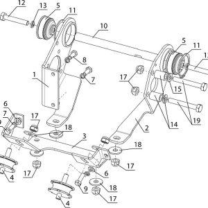 Крепление двигателя (1-но, 2-х карб. двигатели РМЗ)