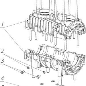Картер двигателя 110500110 со шпильками