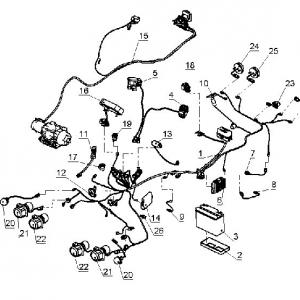 Электрооборудование, осветительные и сигнальные приборы, система зажигания (квадроцикл РМ 500-2)