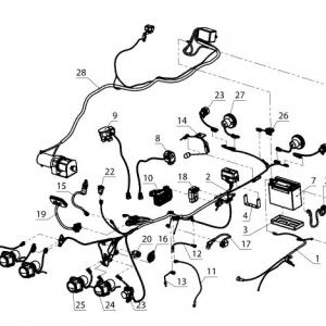 Электрооборудование, осветительные и сигнальные приборы, система зажигания (квадроцикл РМ 500)