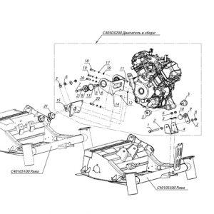 Крепление двигателя PATRUL 800 SWT